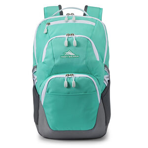 High Sierra Swoop SG Backpack in the color Aquamarine/White.