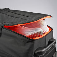 "High Sierra Dells Canyon 34"" Drop-Bottom Wheeled Duffle in the color Black/Black."