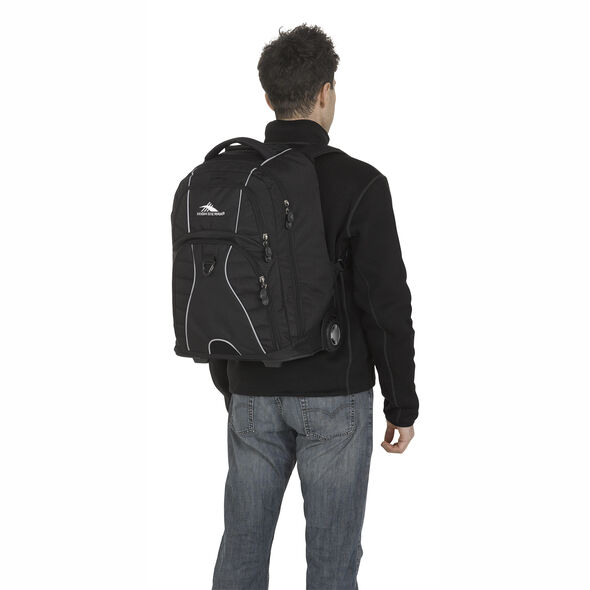 High Sierra Freewheel Wheeled Backpack in the color Black.