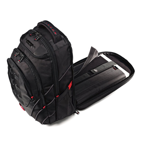 """Samsonite Tectonic 17"""" Perfect Fit Laptop Backpack in the color Black/Red."""