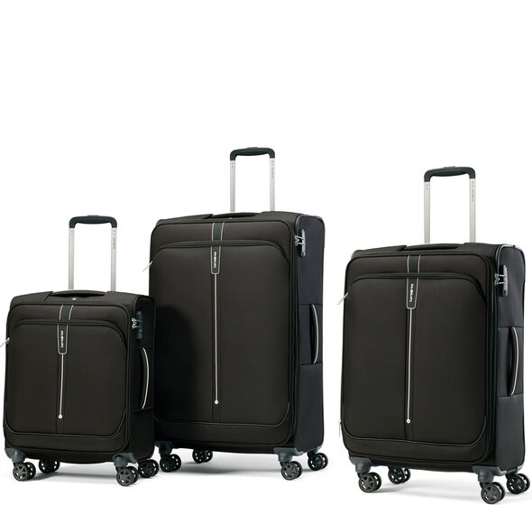 Samsonite Popsoda Spinner 3 Piece Set (CO/Med/Lrg) in the color Black.