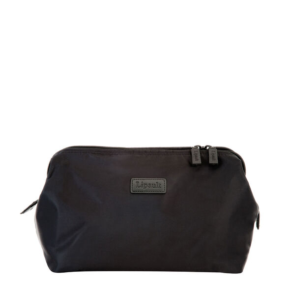 """Lipault Plume Accessories 12"""" Toiletry Kit in the color Black."""