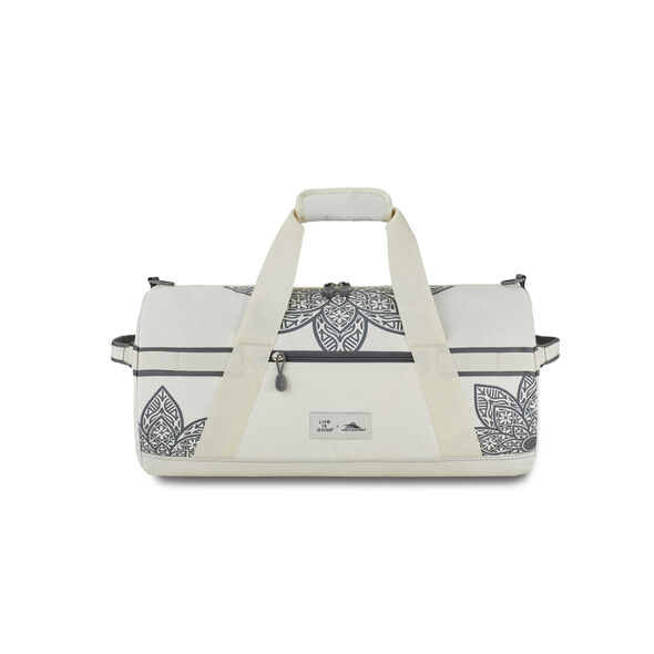 Life Is Good by High Sierra Cargo Duffle Mandala in the color Putty White/ Slate Grey Mandala.