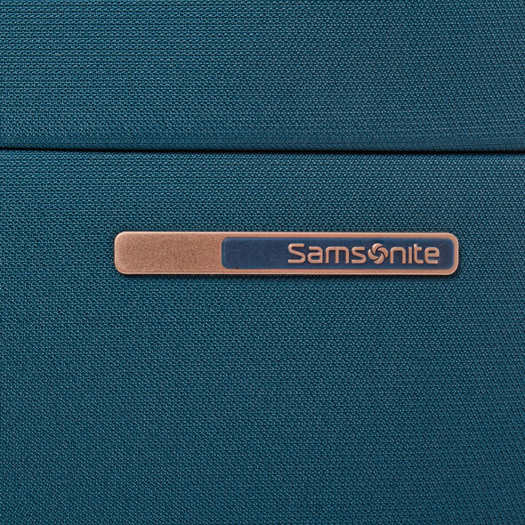 Samsonite Base Boost Spinner Medium in the color Petrol Blue Stripes.