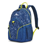 High Sierra Mini Loop Backpack in the color Space Creatures/Rustic Blue/Glow.