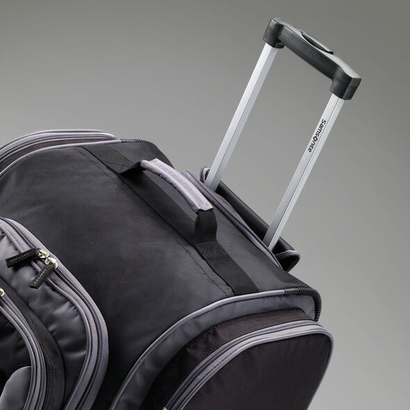 "Samsonite Campus Gear 30"" Wheeled Duffle in the color Black/Grey."