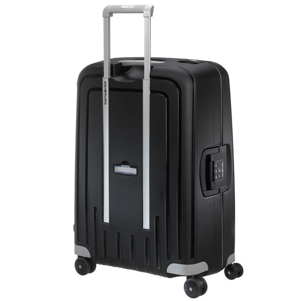 "Samsonite S'Cure 28"" Spinner in the color Black."