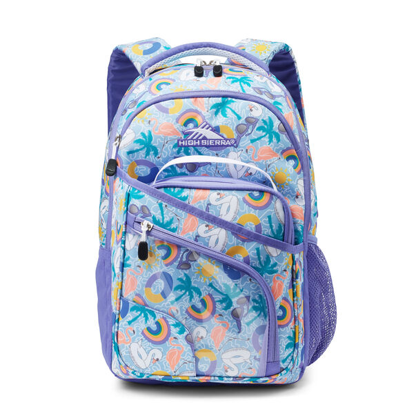 High Sierra Wiggie Lunch Kit Backpack in the color Pool Party/Lavender/White.
