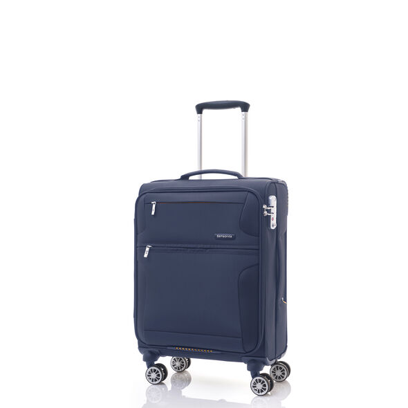 Samsonite Crosslite Spinner Carry-On in the color Nautical Blue.