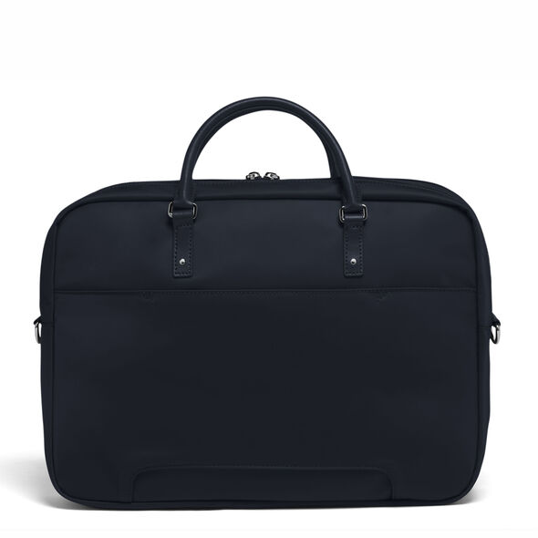 """Lipault Lady Plume FL Laptop Bailhandle (15.6"""") in the color Navy."""