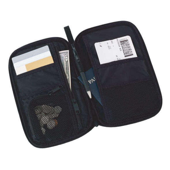 Samsonite CAN Accessories Zip Close Travel Wallet in the color Black.
