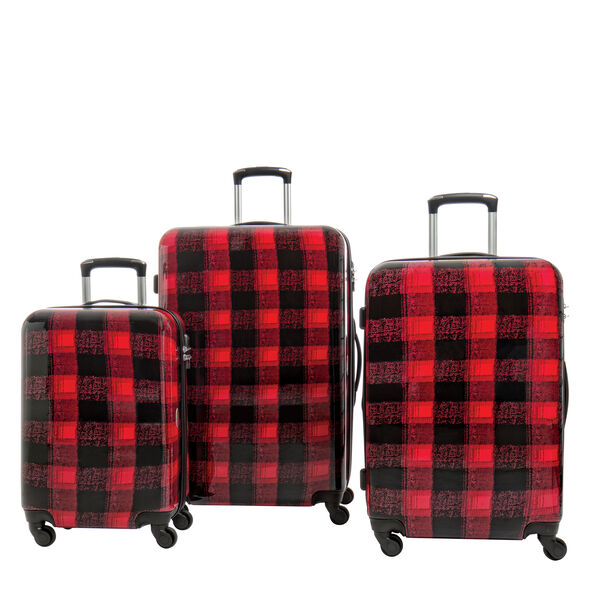 Canadian Tourister Collection 3 Piece Set in the color Flannel Plaid.