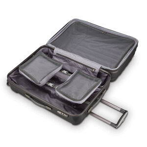 Samsonite On Air 3 Spinner 3 Piece Set (CCO, Med, Lrg) in the color Charcoal Grey.