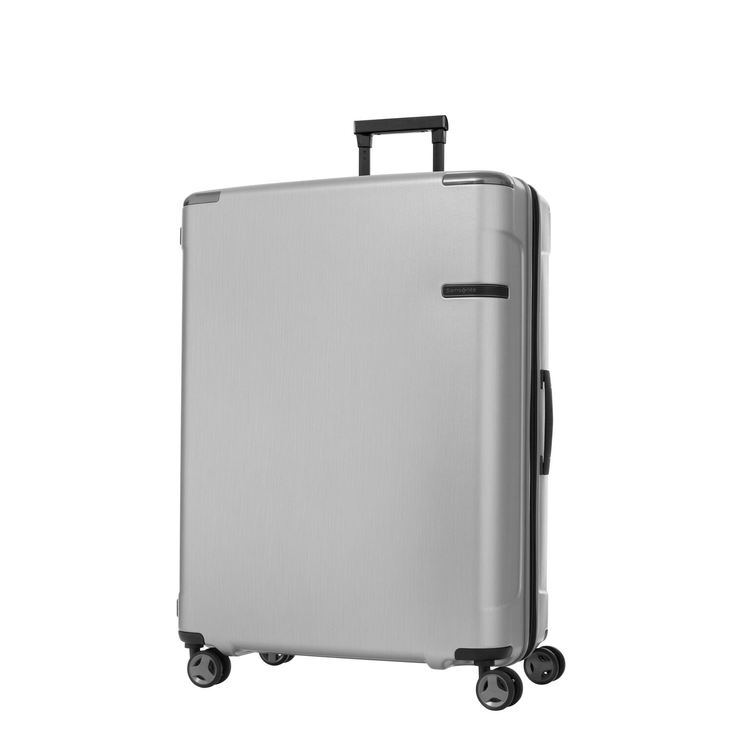 Samsonite Evoa Spinner Large in the color Brushed Silver.