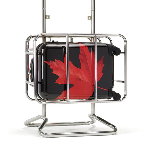 Canadian Tourister Collection 3 Piece Set in the color Maple Leaf Red/Black.