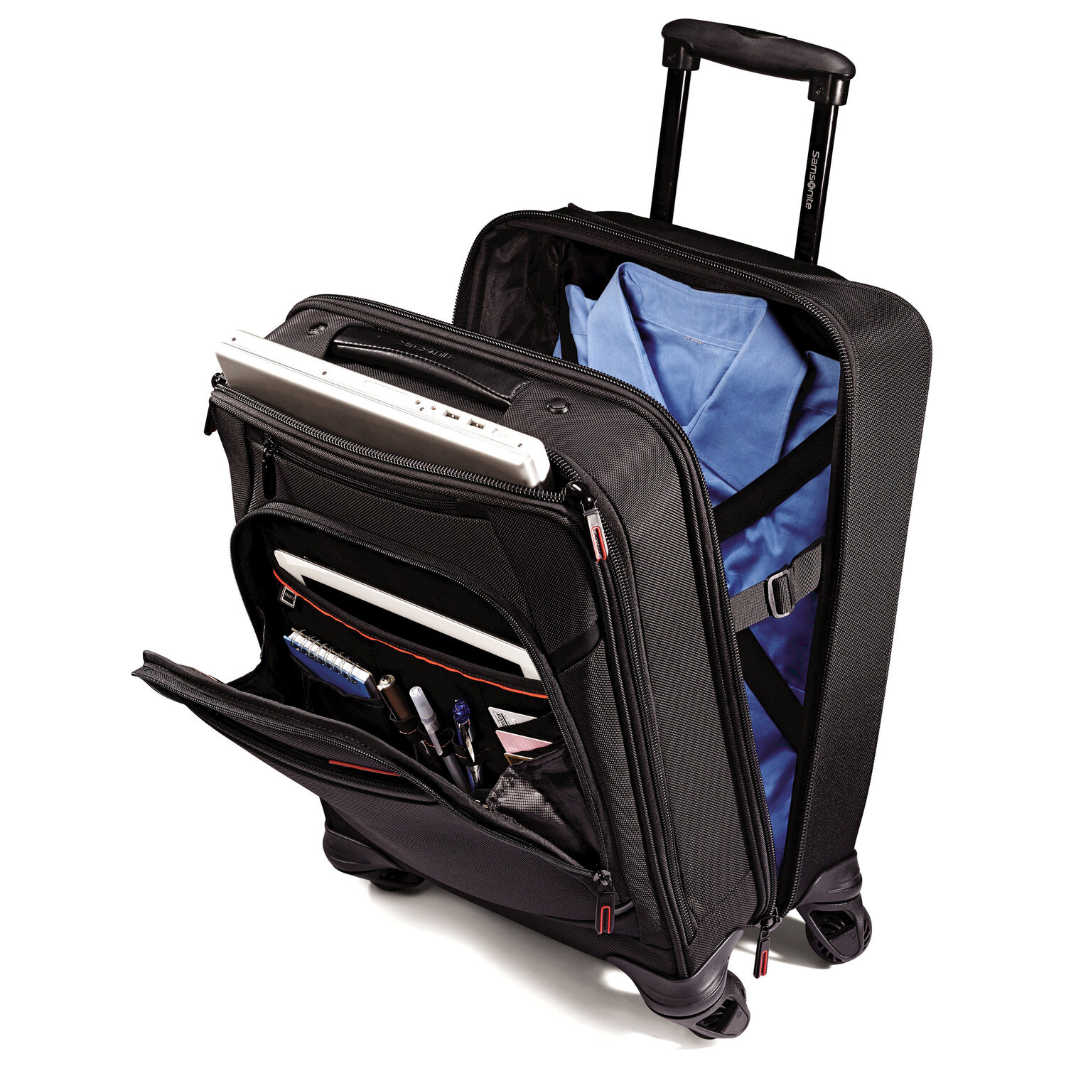 Samsonite pro 4 dlx vertical spinner mobile office - The mobile office working on two wheels ...