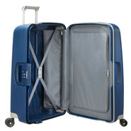 "Samsonite S'Cure 25"" Spinner in the color Dark Blue."