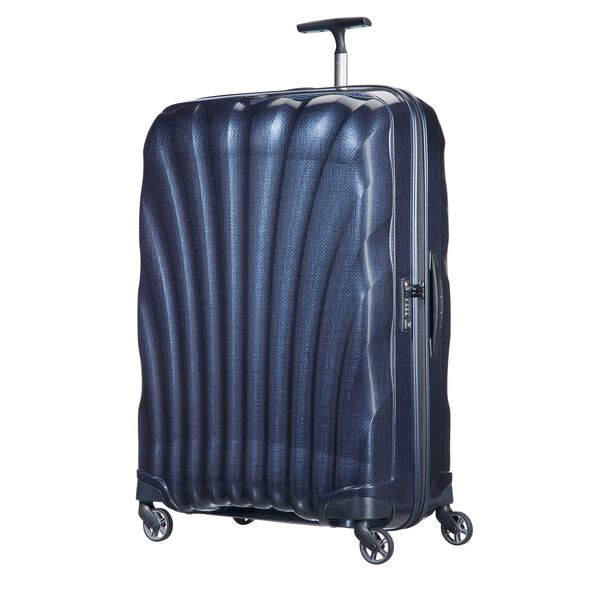 "Samsonite Cosmolite Spinner Large (28"") in the color Midnight Blue."