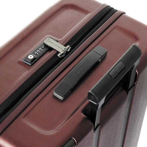 Samsonite Evoa Spinner Medium in the color Dark Red.