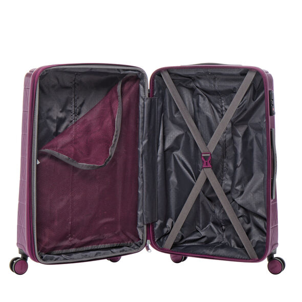 American Tourister Edge Spinner Large in the color Metallic Violet.