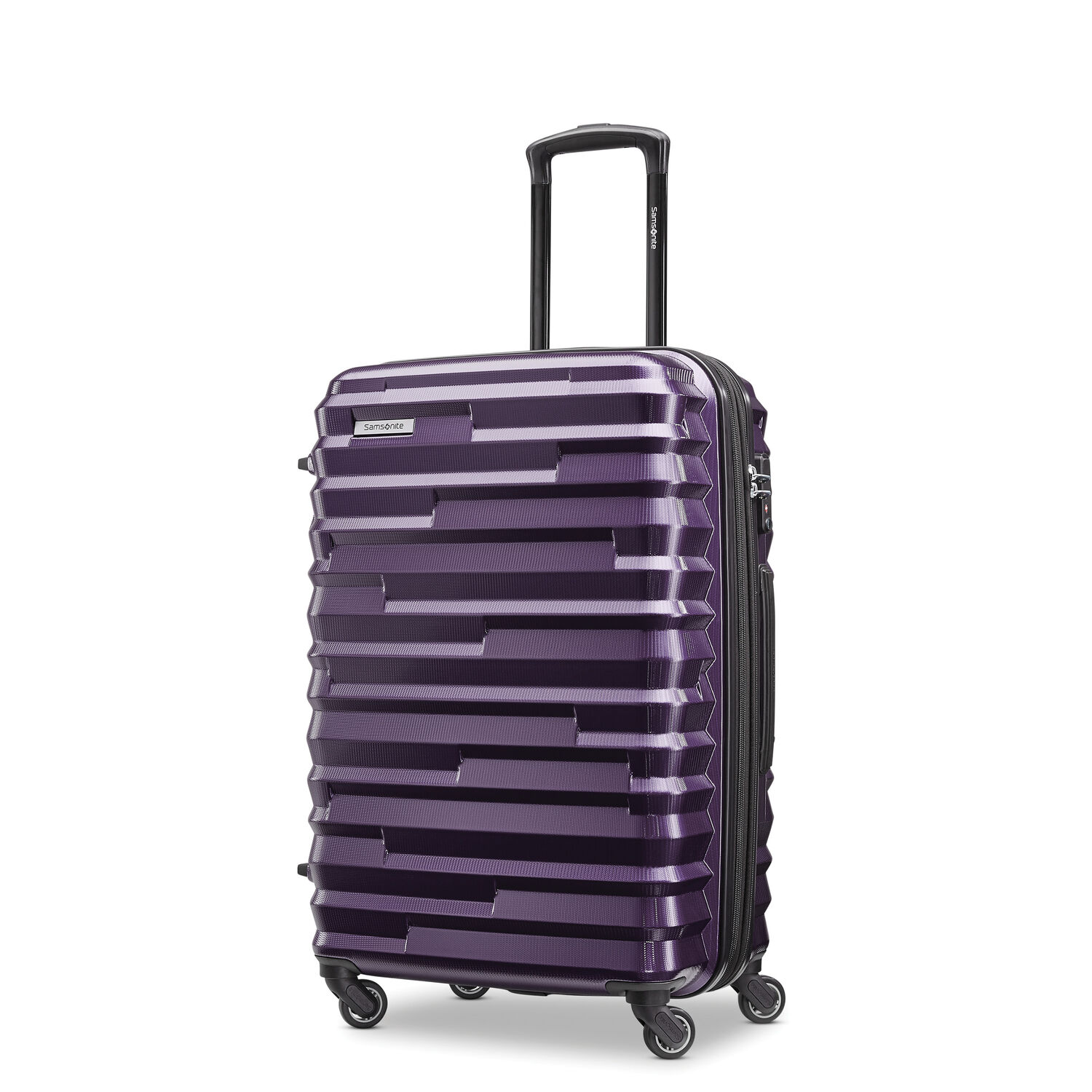 Samsonite Ziplite 4 Spinner Medium in the color Purple.