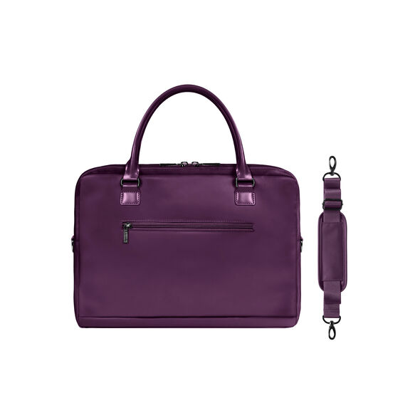 "Lipault Lady Plume Laptop Bailhandle 15.6"" in the color Purple."