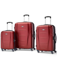 Samsonite Winfield NXT Spinner 3 Piece Set (CO/Med/Lrg) in the color Dark Red.