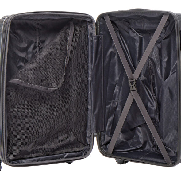 American Tourister Edge Spinner Carry-On in the color Asphalt Grey.