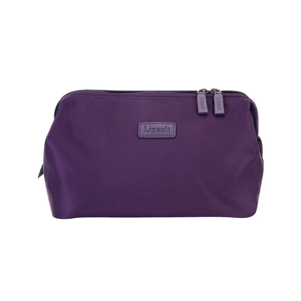 """Lipault Plume Accessories 12"""" Toiletry Kit in the color Purple."""