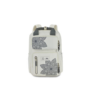 Life Is Good by High Sierra Mindie Backpack in the color Putty White/ Slate Grey Mandala.