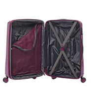 American Tourister Edge Spinner Medium in the color Metallic Violet.
