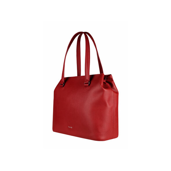 Lipault Plume Elegance Large Tote Bag in the color Ruby Leather.