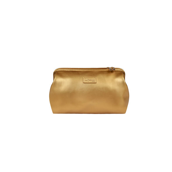 Lipault Miss Plume Toiletry Kit in the color Dark Gold.