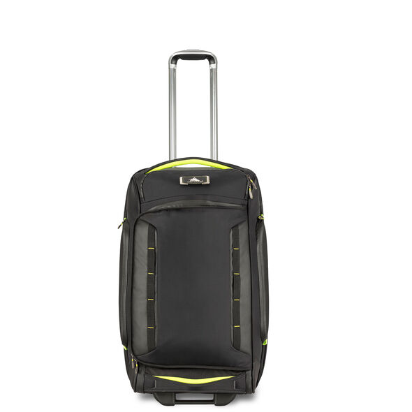 "High Sierra AT8 26"" Wheeled Duffle Upright in the color Black Zest."