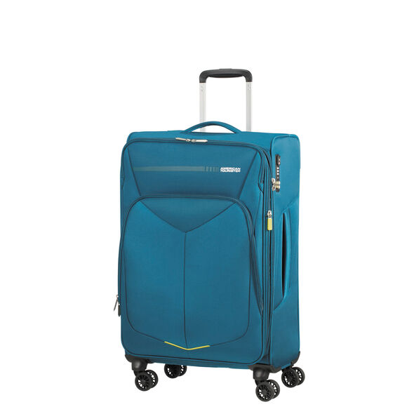 American Tourister Fly Light Spinner Medium in the color Teal.