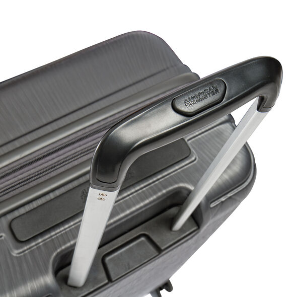 American Tourister Edge Spinner Medium in the color Asphalt Grey.