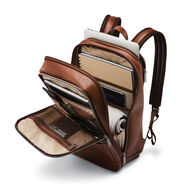 Samsonite Classic Leather Slim Backpack in the color Cognac.