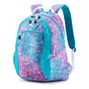 High Sierra Curve Backpack in the color Sequin Facet/Bluebird/White.