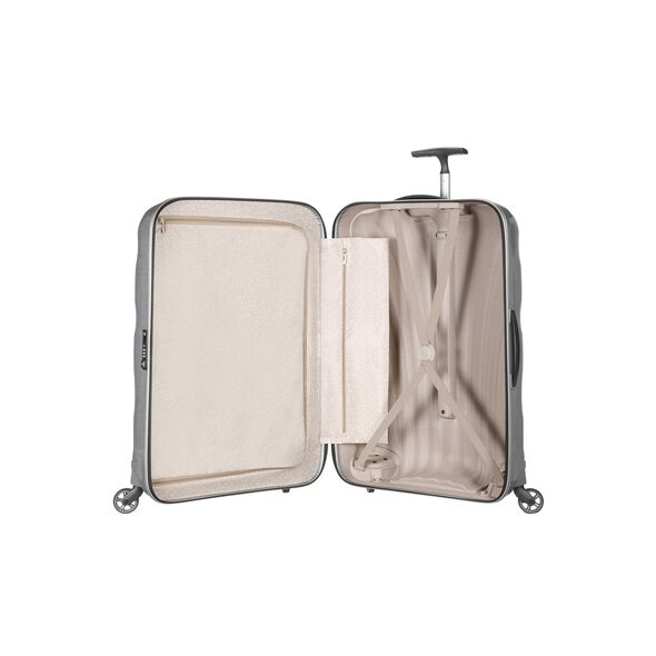 "Samsonite Cosmolite Spinner Large (28"") in the color Silver."
