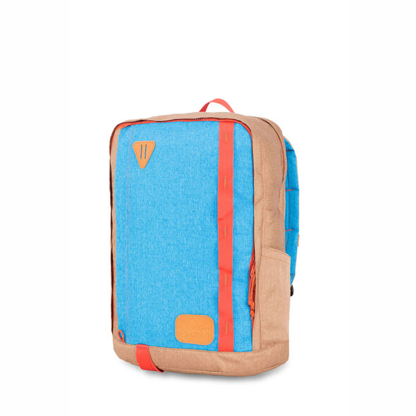 High Sierra HS78 Square Backpack in the color Coconut/Sky/Red Rock.