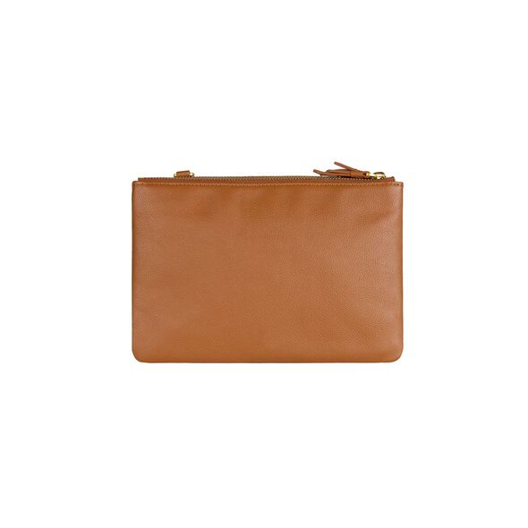 Lipault Plume Elegance Multi Pouch Bag in the color Cognac Leather.
