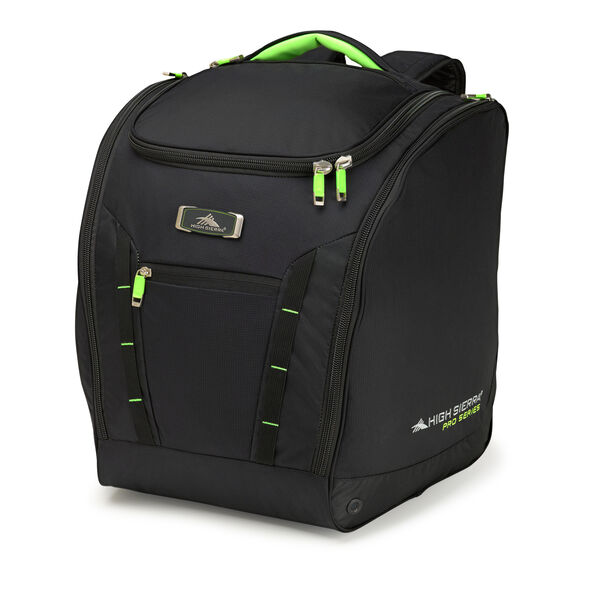High Sierra Deluxe Trapezoid Boot Bag in the color Black/Zest.