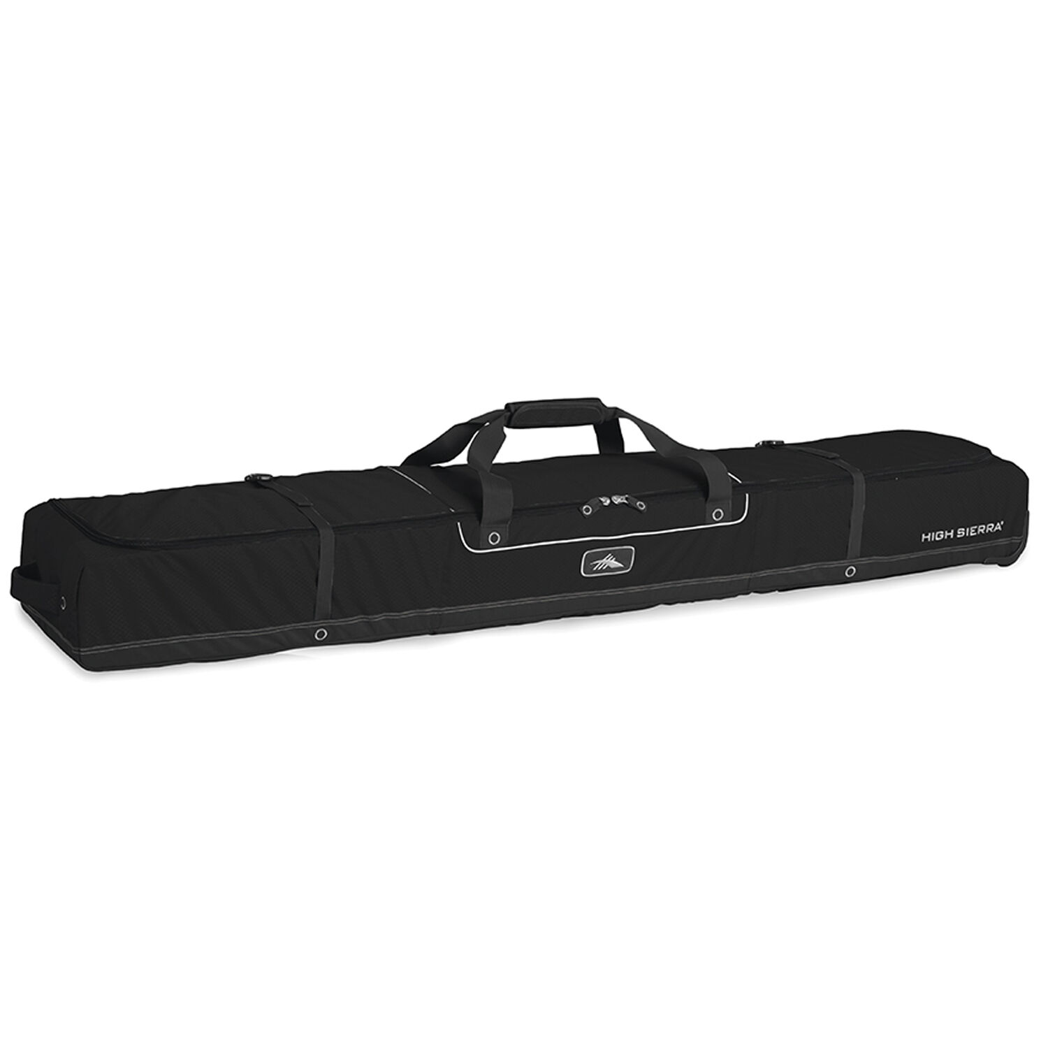 High Sierra Deluxe Wheeled Double Ski Bag in the color Black Black. 2e781eb2ae089