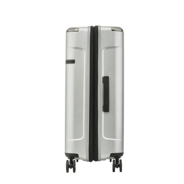 Samsonite Evoa Spinner Medium in the color Brushed Silver.