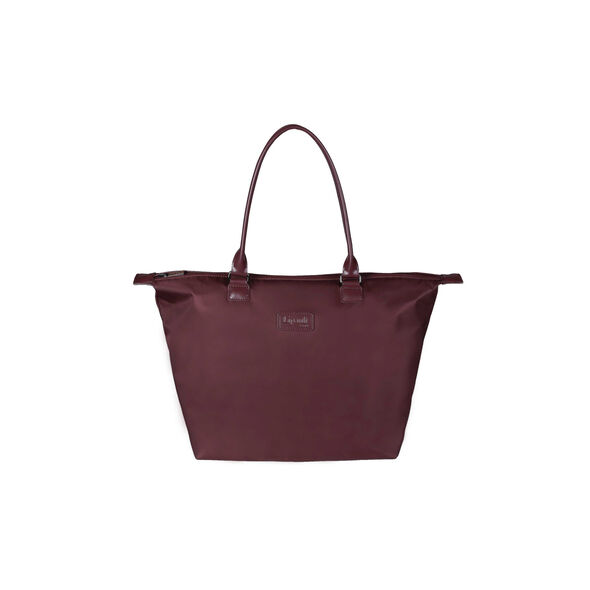 Lipault Lady Plume Tote Bag M in the color Wine Red.
