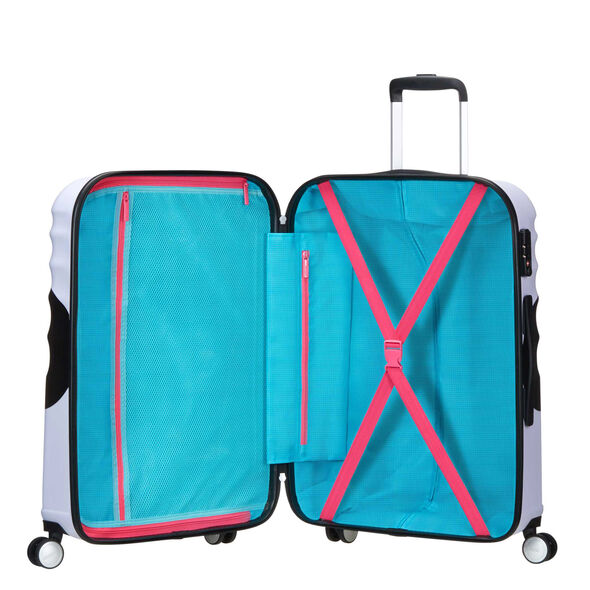 American Tourister Wavebreaker-Disney Spinner Large in the color Minnie Close Up.