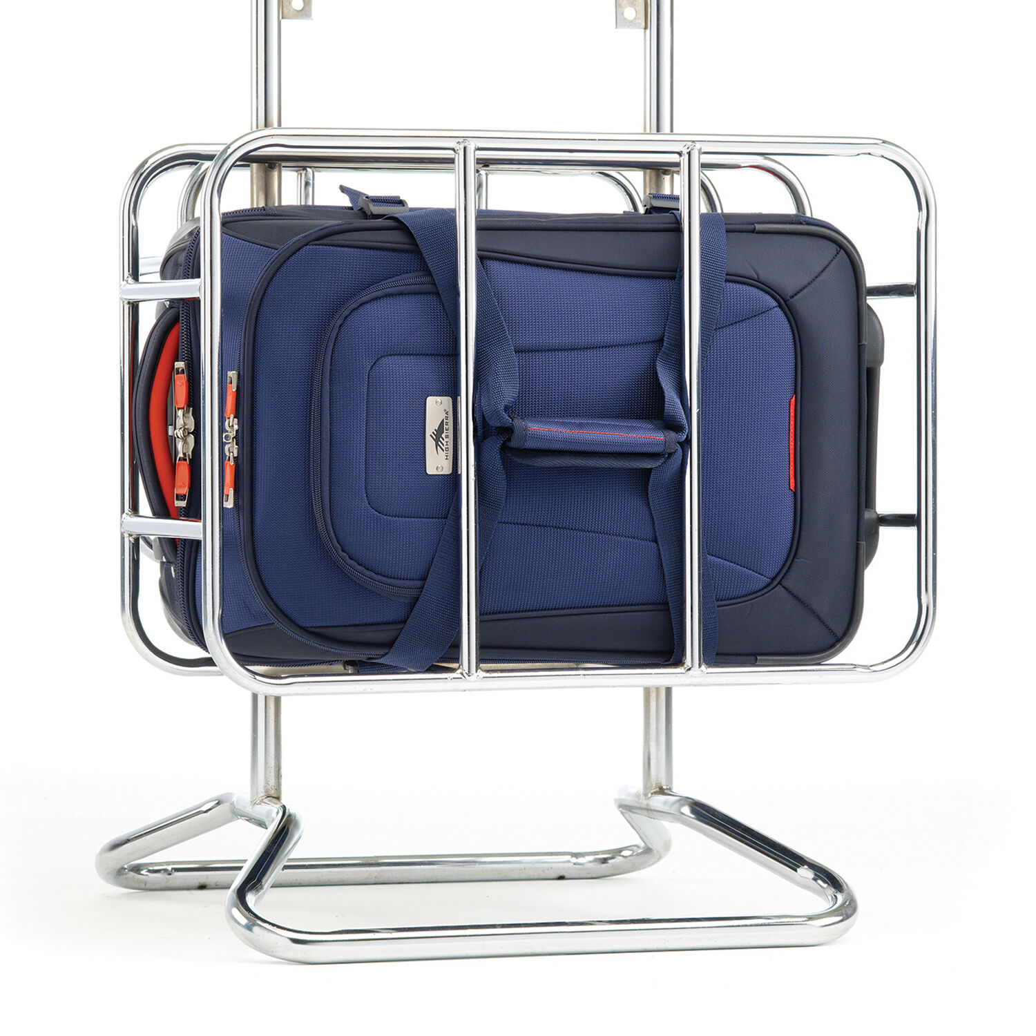 ... High Sierra AT6 DLX Carry-On Wheeled Duffle Upright in the color True  Navy  a02de661e8efa