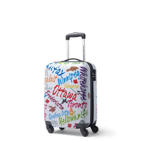 Canadian Tourister Collection Spinner Carry-On in the color White/Multi City.
