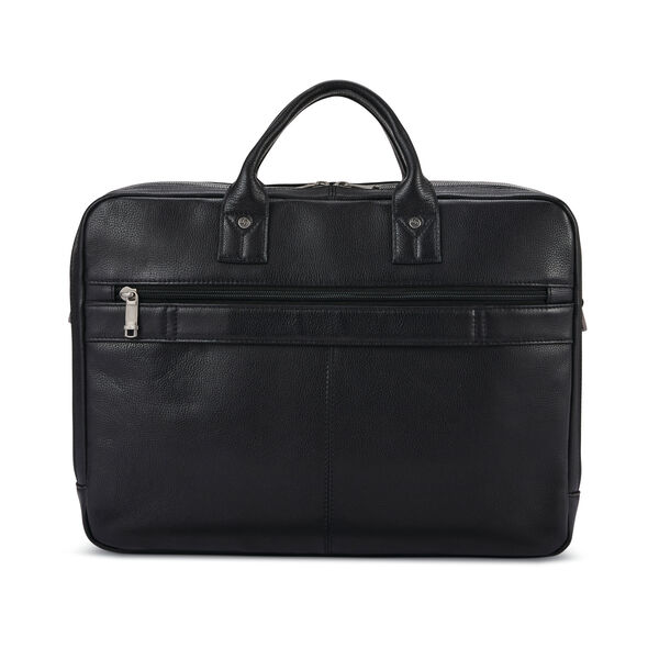 Samsonite Classic Leather Toploader in the color Black.