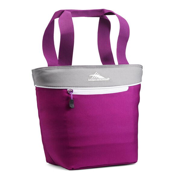 High Sierra Lunch Tote in the color Hyacinth/Charcoal/White.
